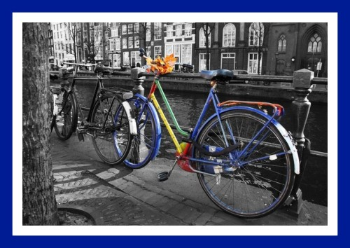 Bicycle in Amsterdam city