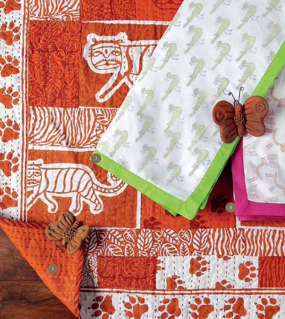 Hand crafted bedcovers by brilliant artisans via