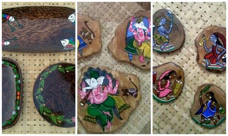 Patachitra-platters-coasters-wall-decor