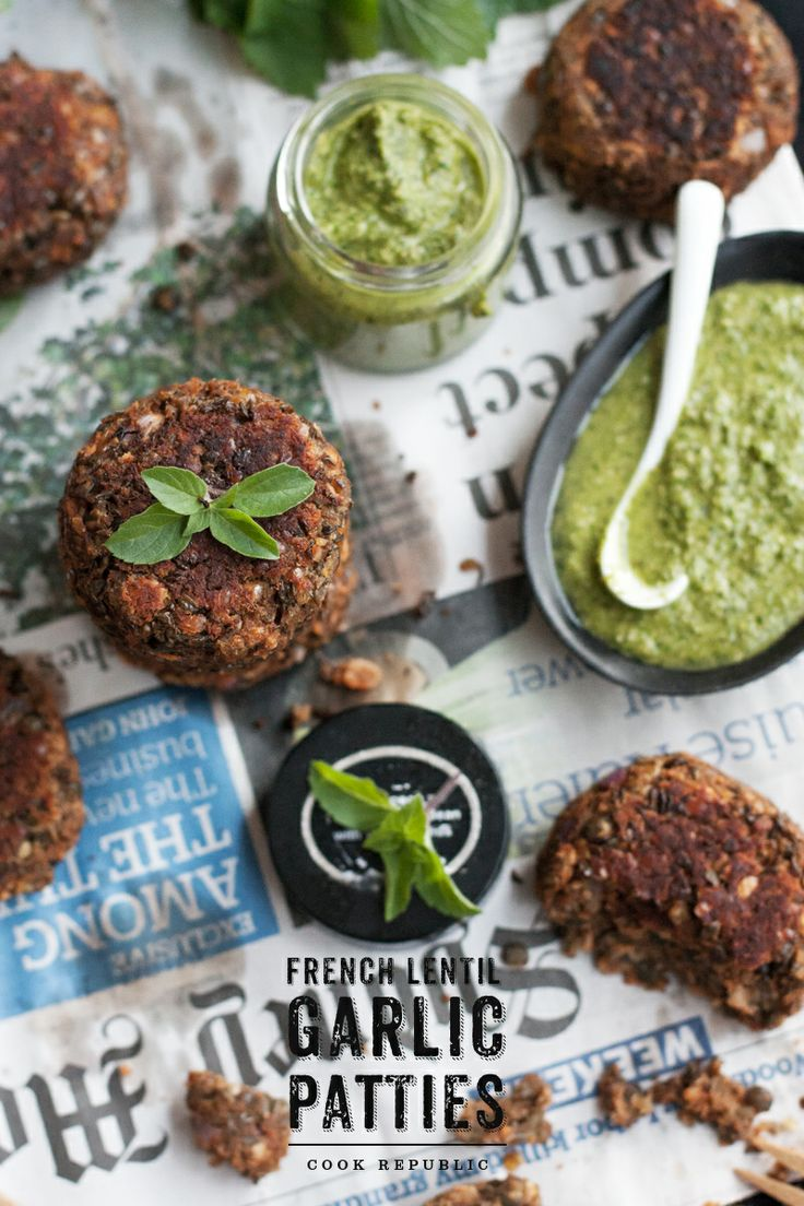 Garlic-Lentil-patties-the-French-way