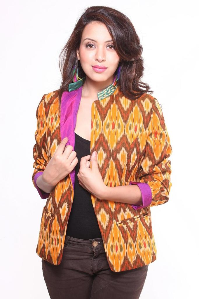 Cotton Ikat Jacket available at Ethniche