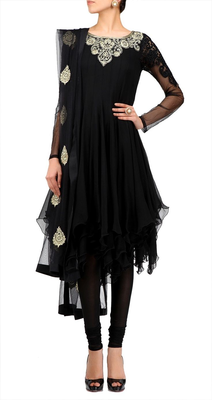 black-with-silver-embroidery