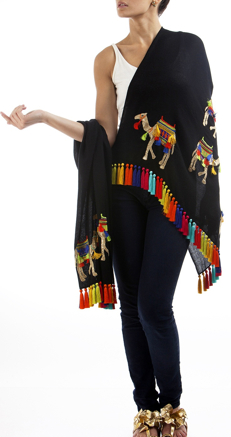black-stole-with-embroidered-camels