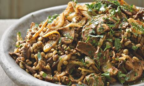 Grain - barley concoction with mushroom and onion