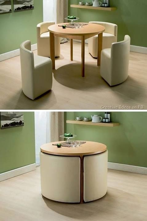 Dining table - a great space saver via
