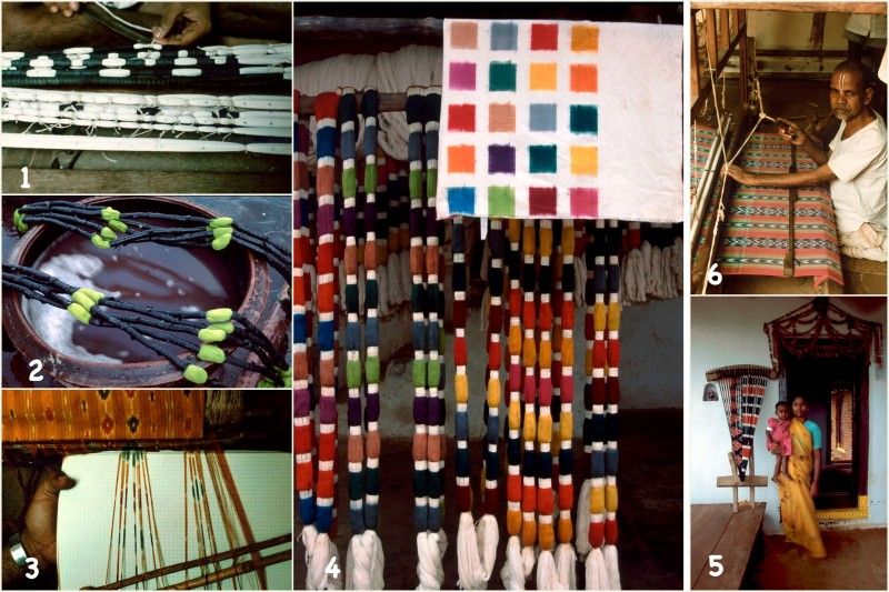 ikat-weaving-process