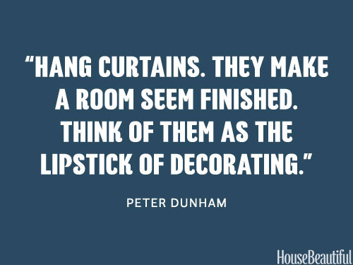 Curtains - a must