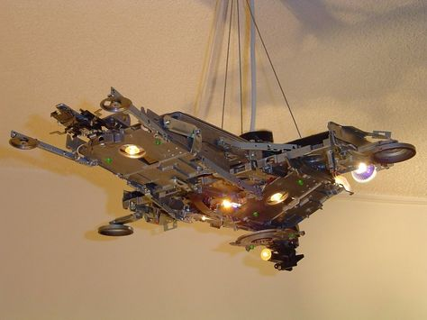 Eletronics re-cycled into a star wars look alike lamp shade ?perfect for that start wars fan via