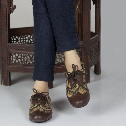 Hand-crafted ajrakh shoes