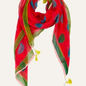 Hand-painted vibrant scarf by Anupamaa