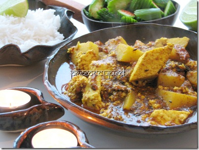 Chhanaar Dalna : Paneer, cooked the traditional bengali meal via