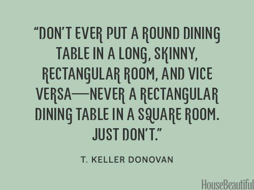 Styling tip dining