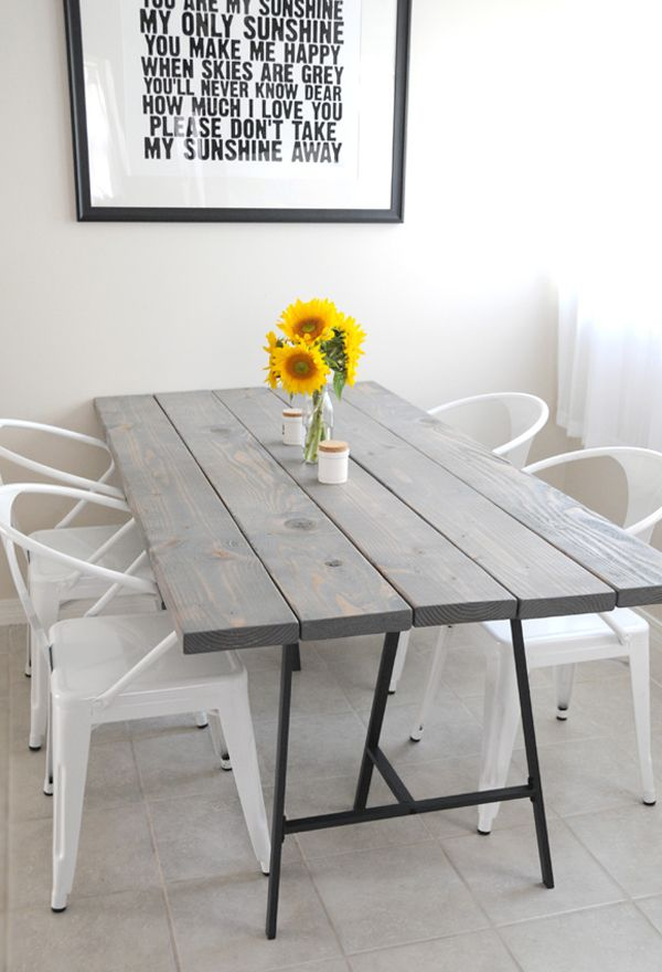 Dining table shouting out 'please don't take my sunshine away' via