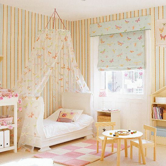 A peaceful haven for your child via but I would leave the walls plain!