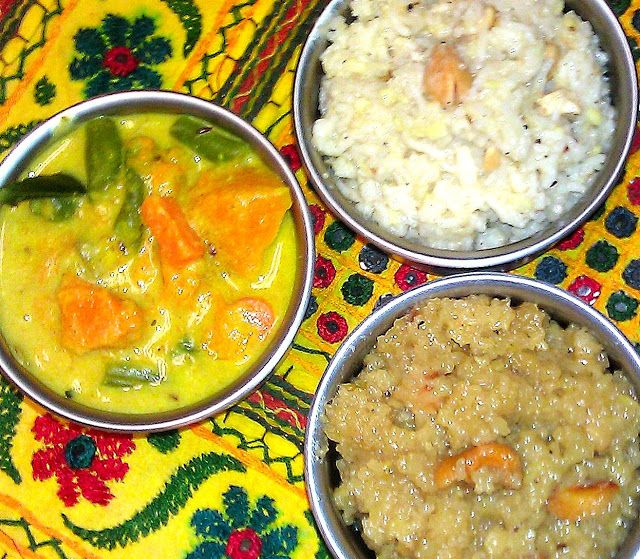 Sankranti food - flavours from Tmil Nadu..read more here