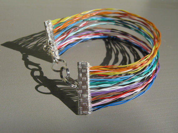 Bracelet made from printer cables - clever and worldwide shipping or make your own via