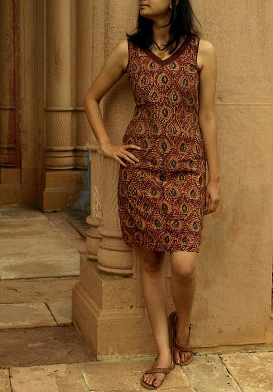 Finest mulmul with a Kalamkari print ... via