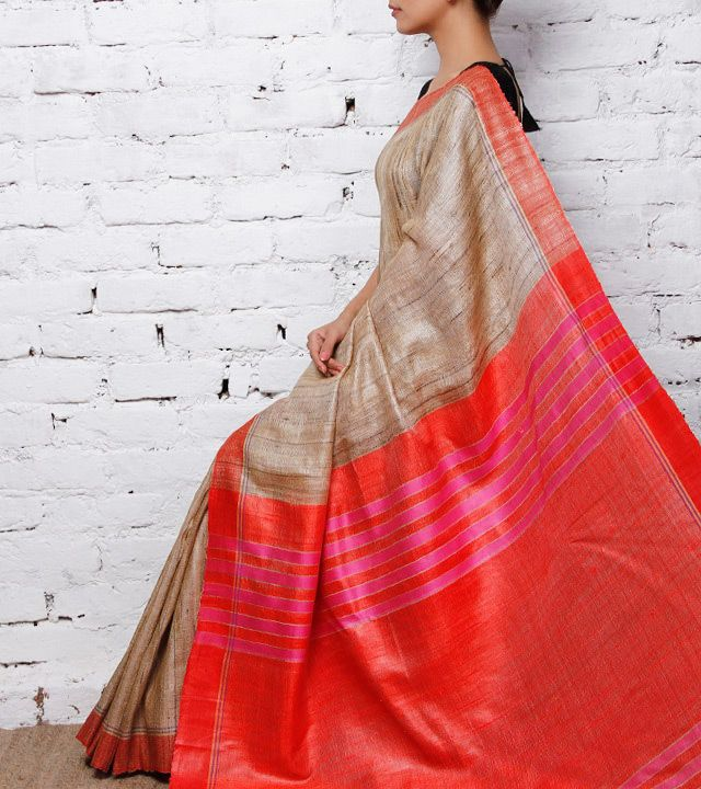 Raw silk from Assam - pure stunning ... via