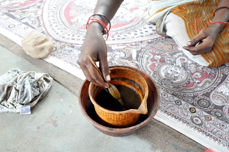 making-kalamkari