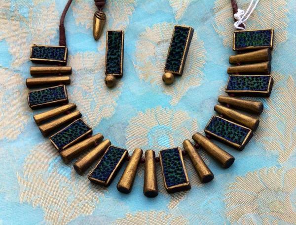 terracotta-modern-necklace-set