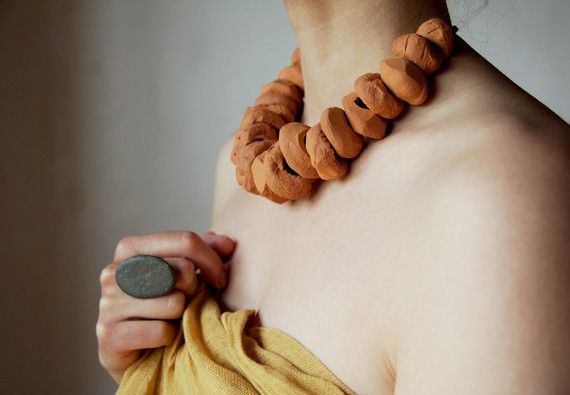 Terracotta-tribal-statement-necklace