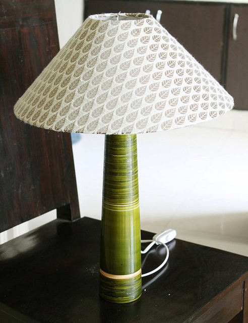 Varnam Chennapatna lamp in green