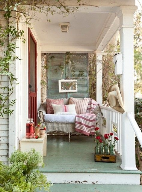 An English porch or perhaps this in your balcony? ... via