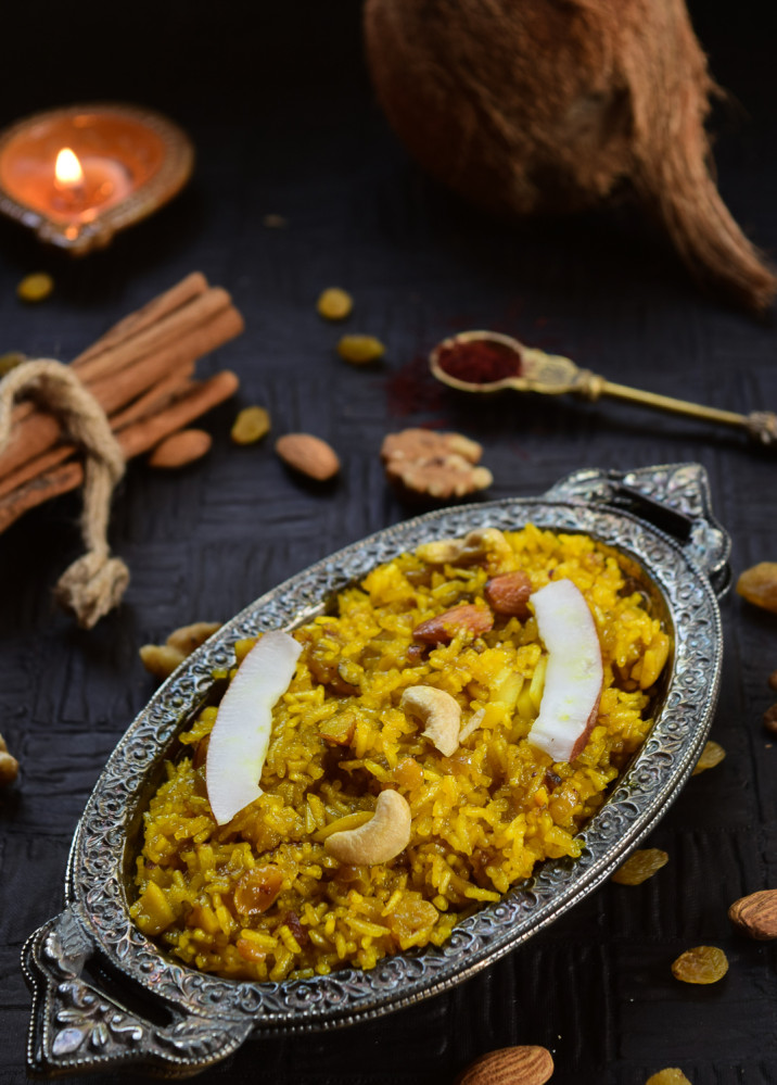 Meethe Chawal...the Kashmiris have it and so do the Himachalis...via