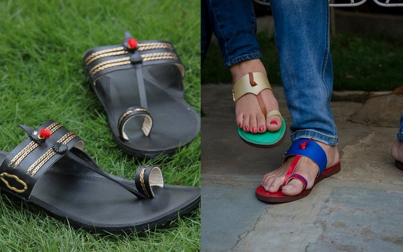 The traditional, stylish footwear...Kolhapuris, what else? via