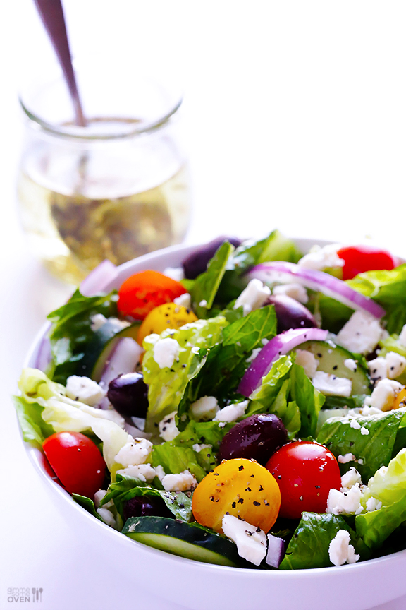Garlic Salad with the best olive oil, that you can lay your hands on via