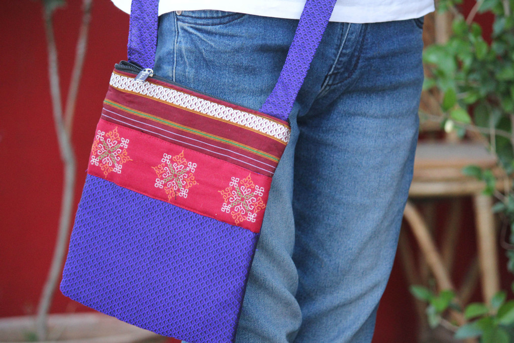 A Kasuti sling bag for when you are out and about...via