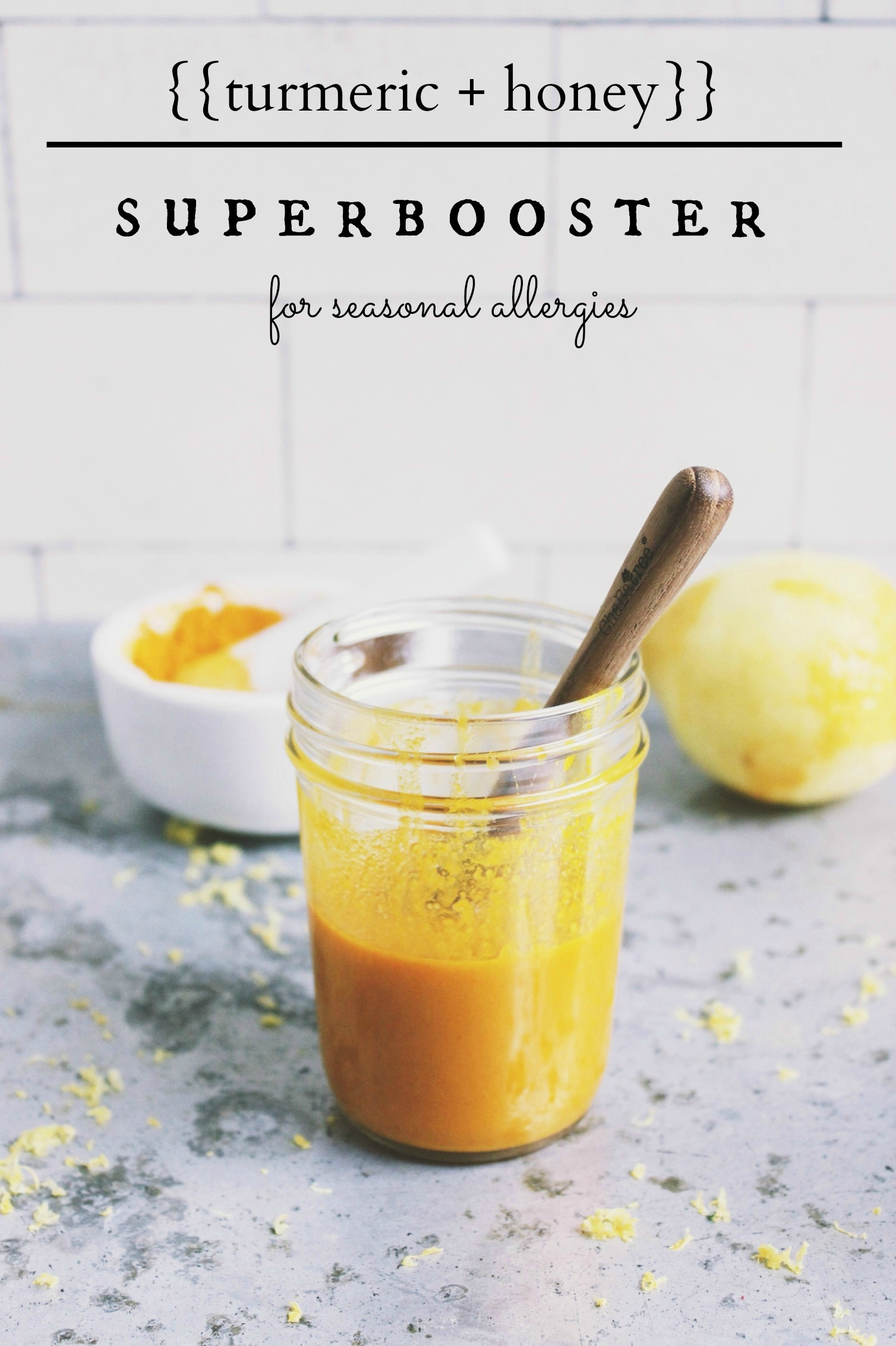 Turmeric with honey - makes it drinkable with all its goodness intact via