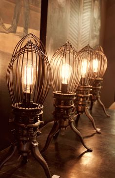 Lights made of  industrial whisks via
