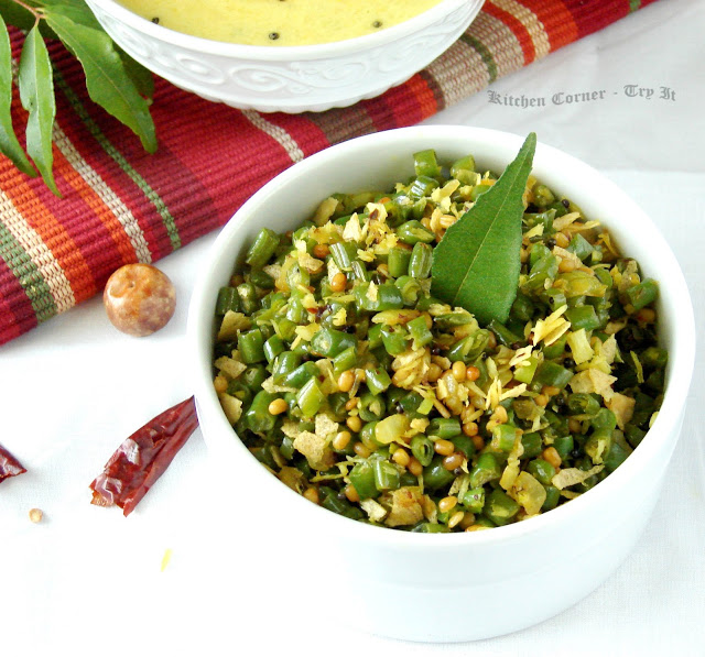 'Beans Poduthol' aka the nicest stir-fry from Kerela! via