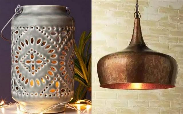 Bring that warm glow to your home; with a copper lamp shade or a gorgeous tea light stand