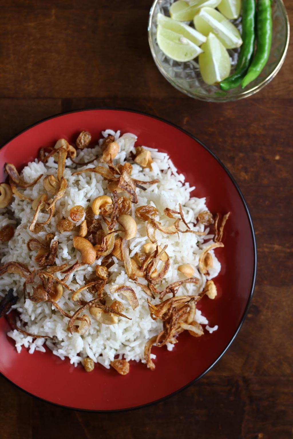 Simplicity at its best - A simple rice, ghee and nuts recipe ... via