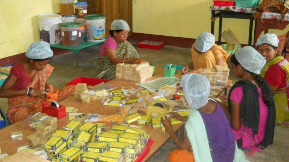 Women making a living, creating 'non toxic' soaps; good for you and the environment too via