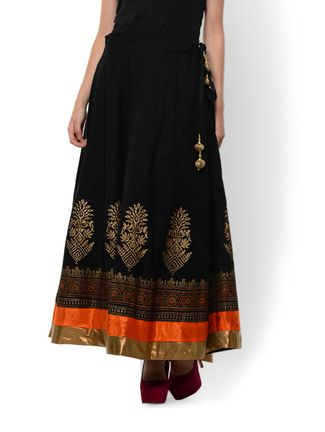 Black and gold with a hint of orange - a perfect skirt by 9rasa via