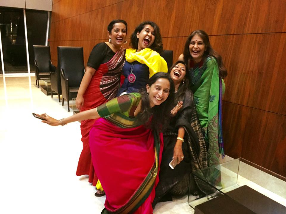 Wearing a saree brings a giggle or perhaps two? via