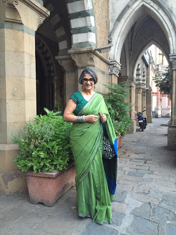Viji Venkatesh, carrying on making a difference, every single day, in her gorgeous drapes via