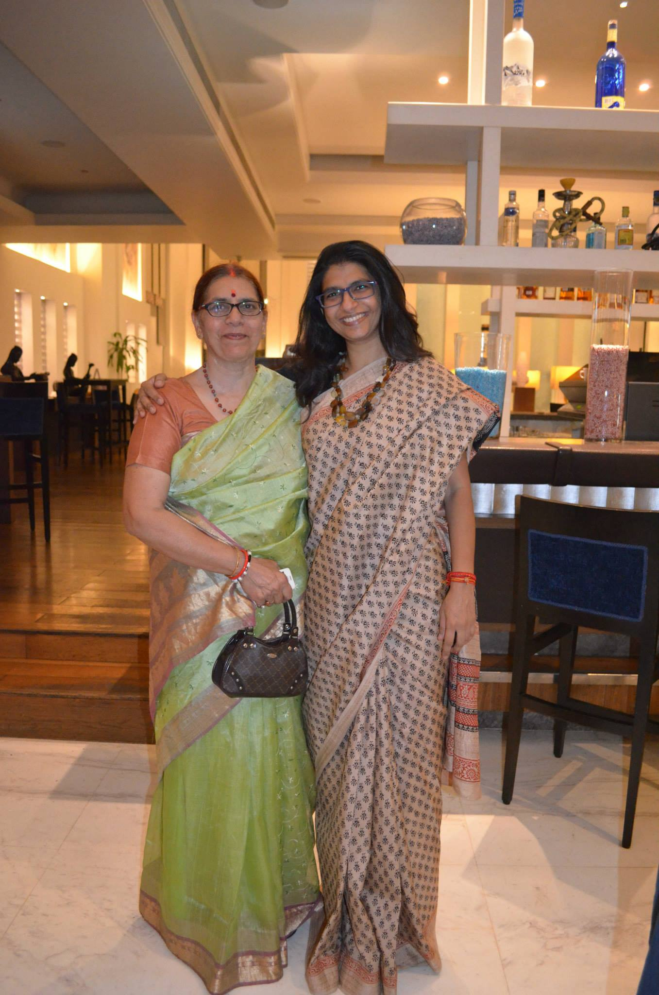 Special bond between a mother and daughter - made tighter with beautiful drapes via