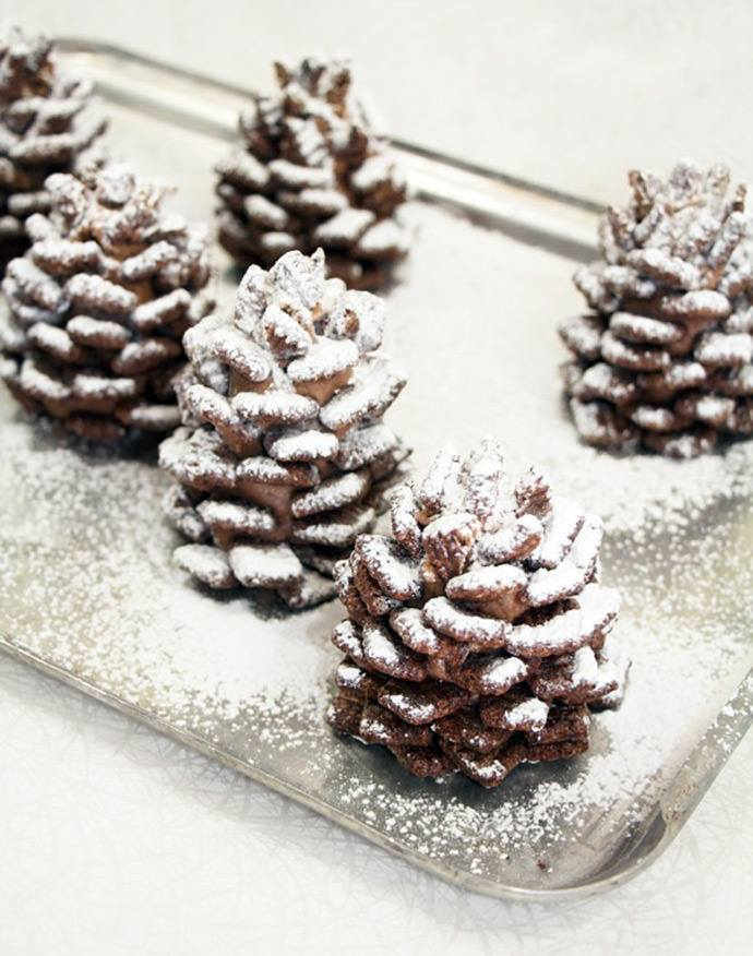 Chocolatey, snowy pine cones anyone? Delicious and pretty too via