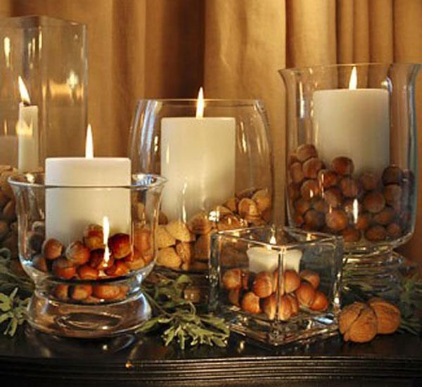 You can't have enough candles at Christmas, can you? with some chestnuts thrown in, if you can ! via