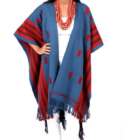 Elegant and lovely shawl that can be used both as a coat and a shawl; inspiration from Nagaland via