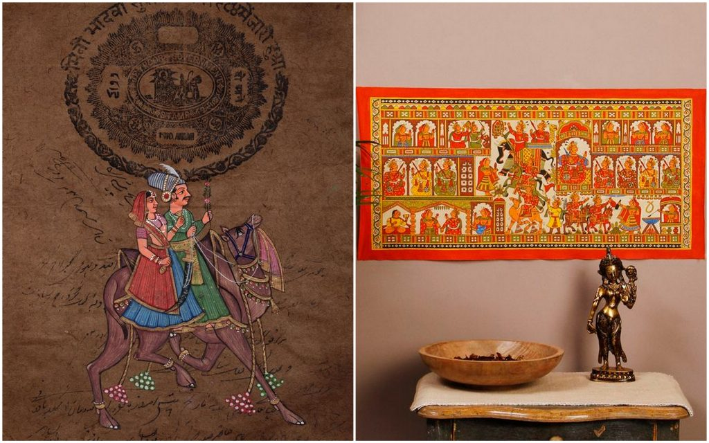 Accentuate a wall with a Phad or a miniature painting with Dhola Maru via