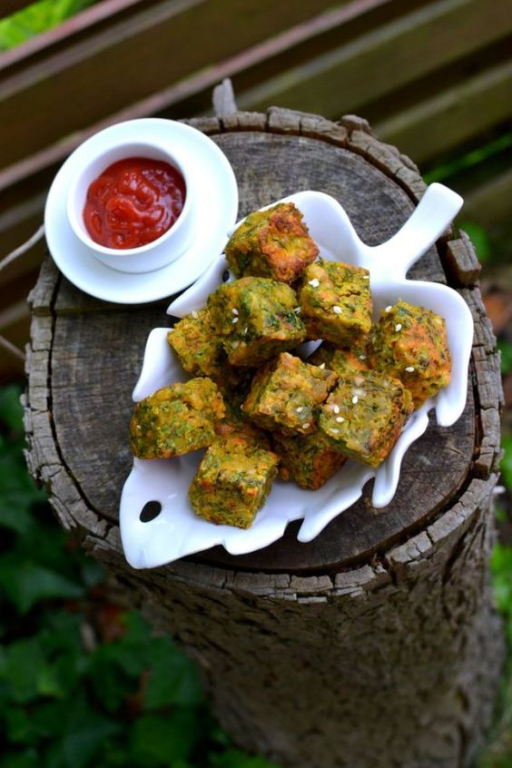 Mouth-watering, delicious, scrummy Kothimbir Vadi or Cilantro Croquettes via Naina from Spice in the City