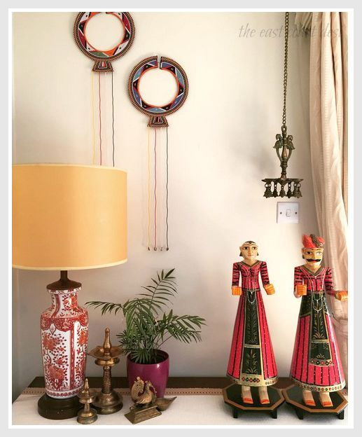 Puppets bring colours and stories with them. Add interest to a corner with colourful Rajasthani 'Kathputhli' s via