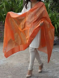 A Flowing dupatta in this gorgeous fabric via