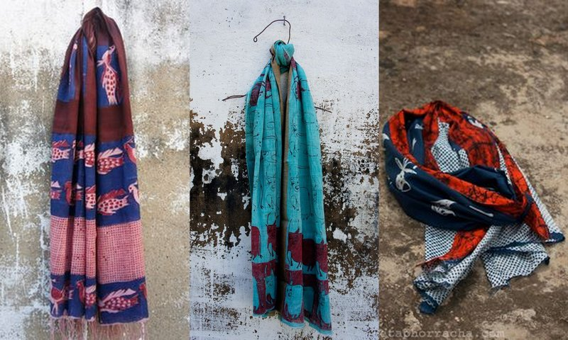 The colours and the prints! Stoles by Metaphor Racha