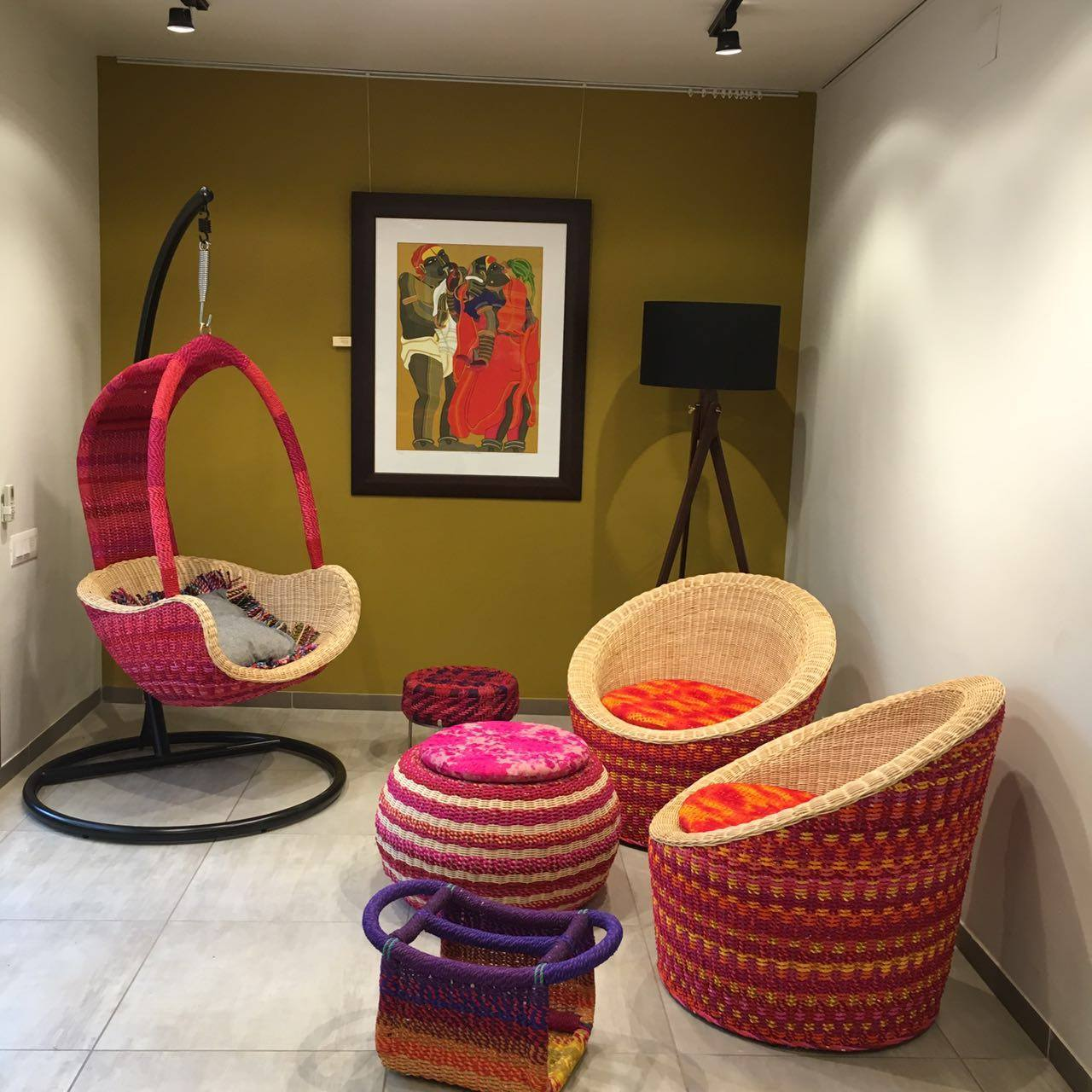 handmade, living room, quirky, weaves, madeinindia, upcycled